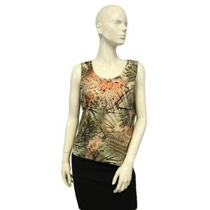 Chico's Sleeveless Floral Tank Size 12/14